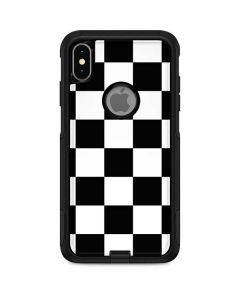 Black and White Checkered Otterbox Commuter iPhone Skin