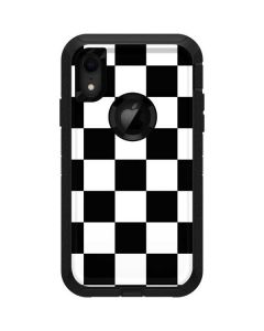 Black and White Checkered Otterbox Defender iPhone Skin