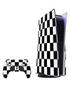 Black and White Checkered PS5 Bundle Skin