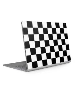 Black and White Checkered Surface Book 2 13.5in Skin