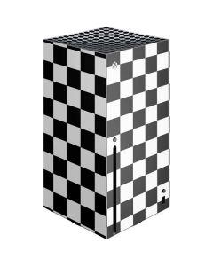 Black and White Checkered Xbox Series X Console Skin