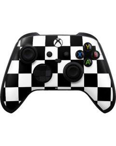 Black and White Checkered Xbox Series X Controller Skin