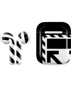 Black and White Geometric Shapes Apple AirPods Skin