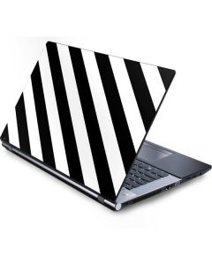Black and White Geometric Stripes Generic Laptop Skin