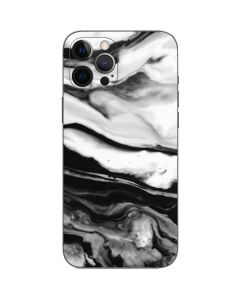 Black and White Marble Ink iPhone 12 Pro Max Skin