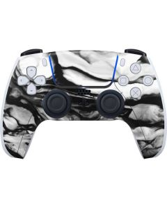 Black and White Marble Ink PS5 Controller Skin