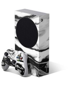 Black and White Marble Ink Xbox Series S Bundle Skin