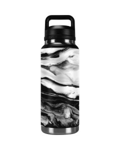 Black and White Marble Ink YETI Rambler 36oz Bottle Skin