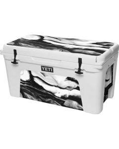 Black and White Marble Ink YETI Tundra 75 Hard Cooler Skin