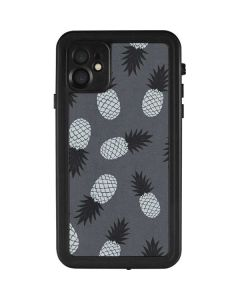 Black and White Pineapples iPhone 11 Waterproof Case
