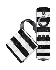 Black and White Striped Marble Amazon Fire TV Skin