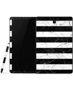 Black and White Striped Marble Samsung Galaxy Tab Skin