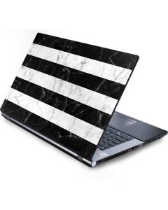 Black and White Striped Marble Generic Laptop Skin