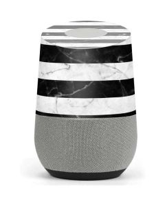 Black and White Striped Marble Google Home Skin