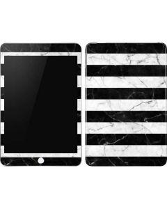Black and White Striped Marble Apple iPad Mini Skin