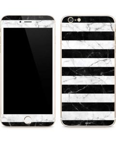 Black and White Striped Marble iPhone 6/6s Plus Skin