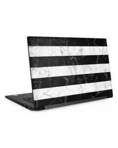 Black and White Striped Marble Dell Latitude Skin