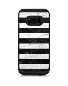 Black and White Striped Marble LifeProof Fre Galaxy Skin