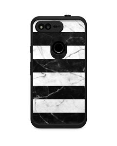 Black and White Striped Marble LifeProof Fre Google Skin