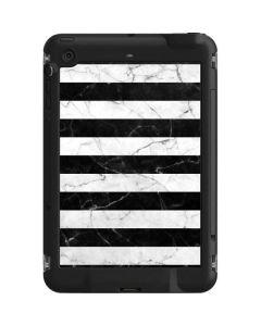 Black and White Striped Marble LifeProof Fre iPad Mini 3/2/1 Skin