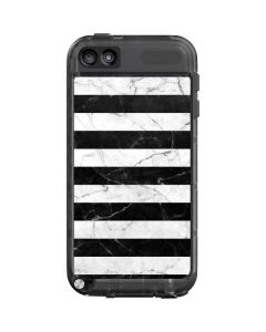 Black and White Striped Marble LifeProof Fre iPod Skin