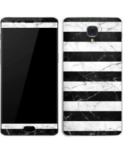 Black and White Striped Marble OnePlus 3 Skin