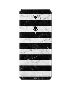 Black and White Striped Marble OnePlus 7 Pro Skin
