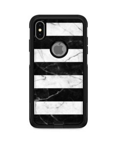 Black and White Striped Marble Otterbox Commuter iPhone Skin