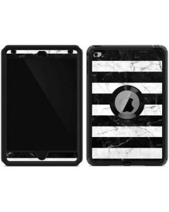 Black and White Striped Marble Otterbox Defender iPad Skin