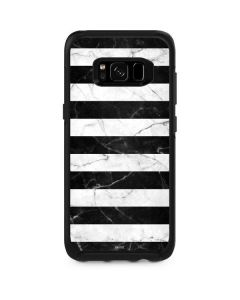 Black and White Striped Marble Otterbox Symmetry Galaxy Skin