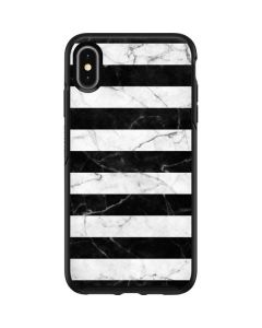 Black and White Striped Marble Otterbox Symmetry iPhone Skin
