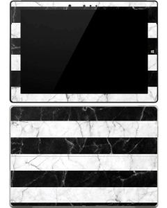 Black and White Striped Marble Surface 3 Skin