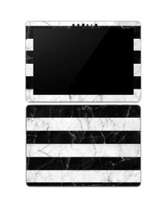 Black and White Striped Marble Surface Go Skin