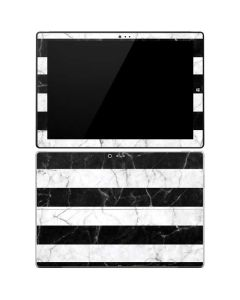 Black and White Striped Marble Surface Pro 3 Skin