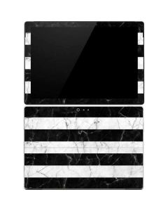 Black and White Striped Marble Surface Pro 4 Skin