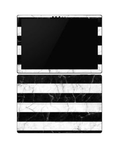 Black and White Striped Marble Surface Pro 6 Skin