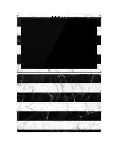 Black and White Striped Marble Surface Pro 7 Skin