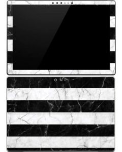 Black and White Striped Marble Surface Pro (2017) Skin