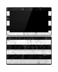Black and White Striped Marble Surface Pro Tablet Skin