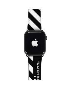 Black and White Stripes Apple Watch Band 42-44mm