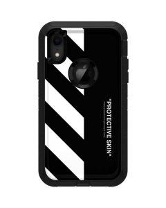 Black and White Stripes Otterbox Defender iPhone Skin