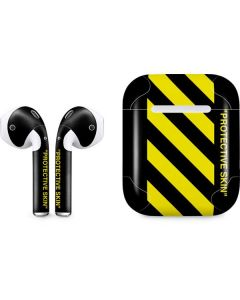 Black and Yellow Stripes Apple AirPods Skin