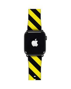 Black and Yellow Stripes Apple Watch Case