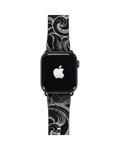 Black Flourish Apple Watch Case