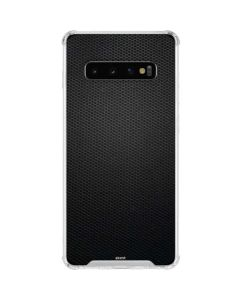 Black Hex Galaxy S10 Clear Case