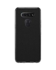 Black Hex LG K51/Q51 Clear Case