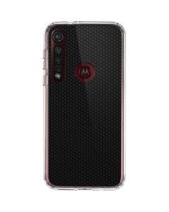 Black Hex Moto G8 Plus Clear Case