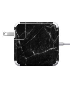 Black Marble 85W Power Adapter (15 and 17 inch MacBook Pro Charger) Skin
