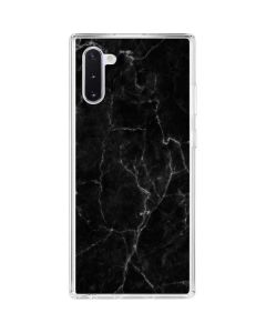 Black Marble Galaxy Note 10 Clear Case