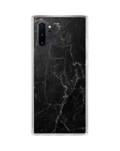 Black Marble Galaxy Note 10 Plus Clear Case